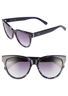 Longchamp 54mm Gradient Lens Cat Eye Sunglasses