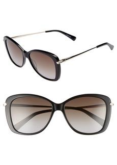 Longchamp 56mm Gradient Lens Butterfly Sunglasses