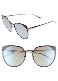 Longchamp 58mm Rounded Cat Eye Sunglasses