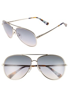 Longchamp 61mm Gradient Lens Aviator Sunglasses