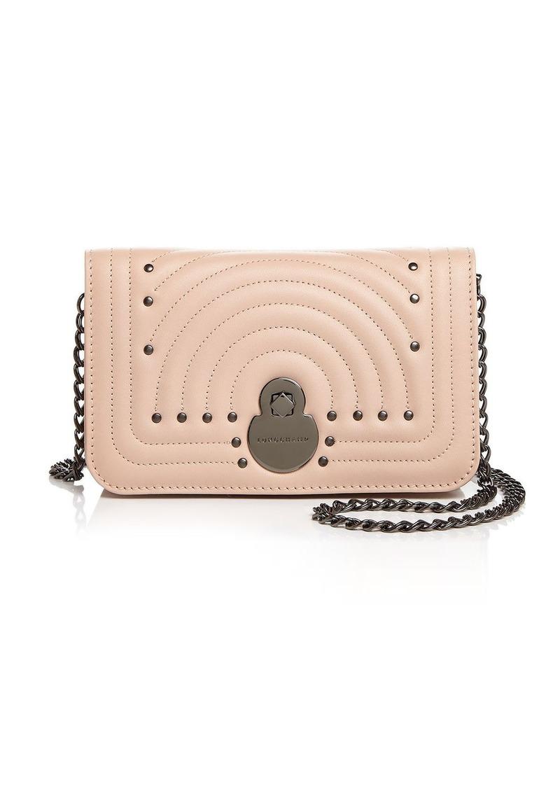 Longchamp Cavalcade Matte Continental Chain Wallet
