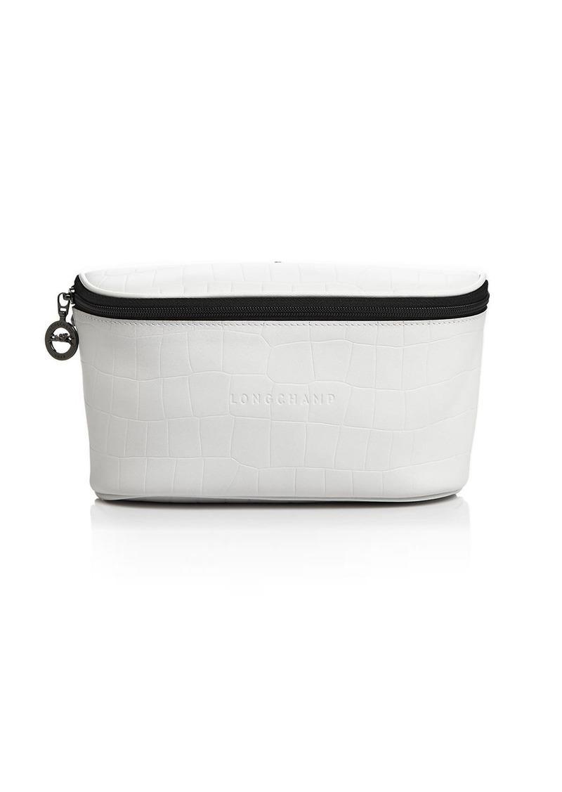 Longchamp Crocodile-Embossed Leather Belt Bag