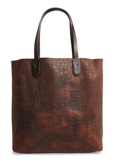 Longchamp Essential Embossed Leather North/South Tote