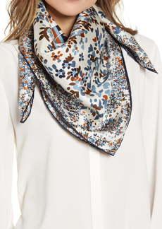 Longchamp Fleurs Pliage Silk Square Scarf