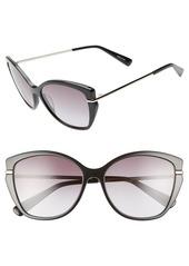 Longchamp Heritage 57mm Butterfly Sunglasses