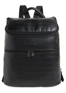 Longchamp Large Leather Backpack