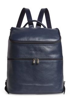 Longchamp Large Leather Backpack