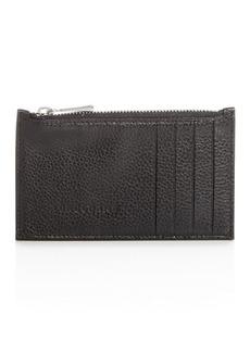 Longchamp Le Foulonn� Leather Zip Card Case