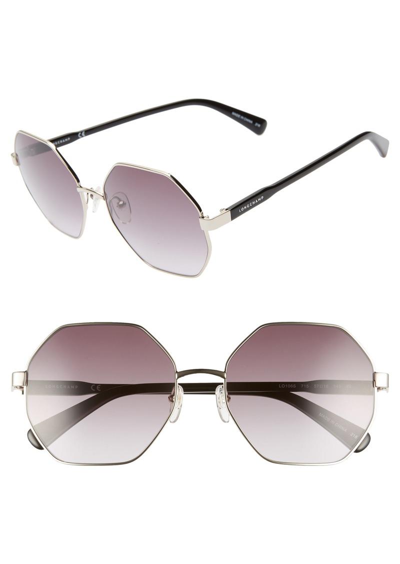 a64d4ca8f53 Longchamp Longchamp Le Pliage 57mm Gradient Octagonal Sunglasses ...