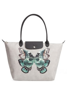 Longchamp Le Pliage Butterfly Print Large Tote