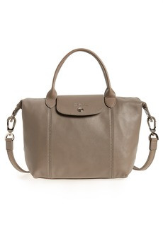 Longchamp Small 'Le Pliage Cuir' Leather Top Handle Tote