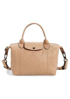 Longchamp Le Pliage Cuir Leather Shoulder Bag - Beige (Nordstrom Exclusive)