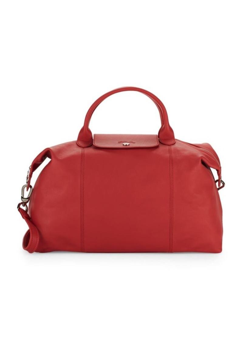Longchamp Le Pliage Cuir Leather Large Top Handle Bag  25a68153013bf