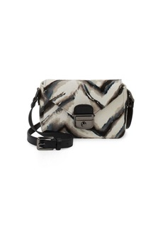 Longchamp Le Pliage Dyed Fur and Leather Crossbody Bag