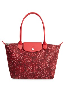 Longchamp Le Pliage Floral Print Shoulder Bag