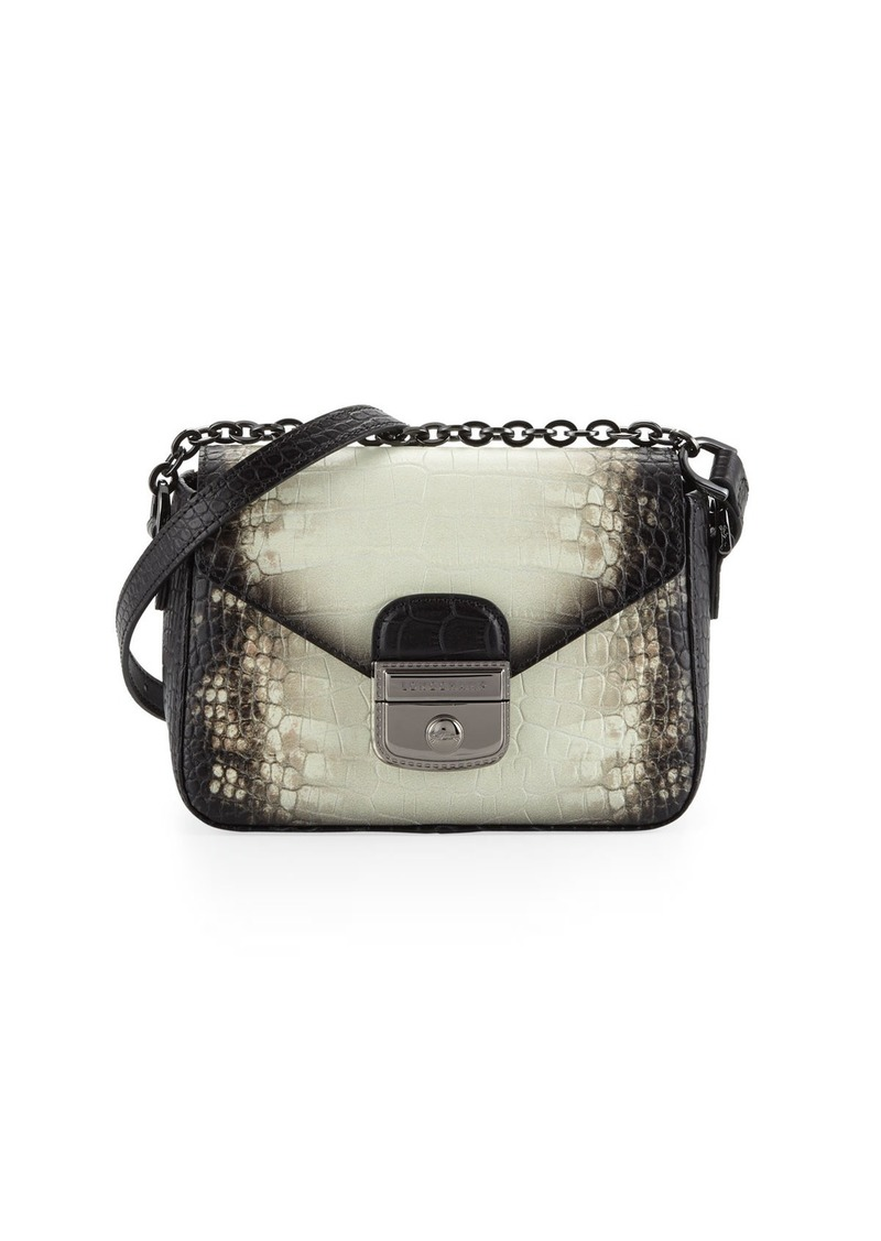 a994ac29a6fb4 Longchamp Longchamp Le Pliage Heritage Small Croc-Embossed Crossbody ...