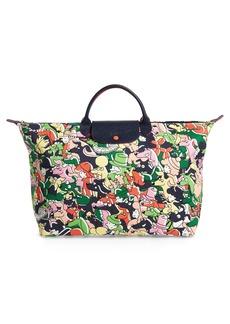 Longchamp x Clo'e Floirat Le Pliage Illustration Numbered Limited Edition Travel Bag