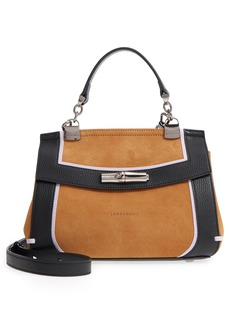 Longchamp Madeleine Colorblock Leather Satchel