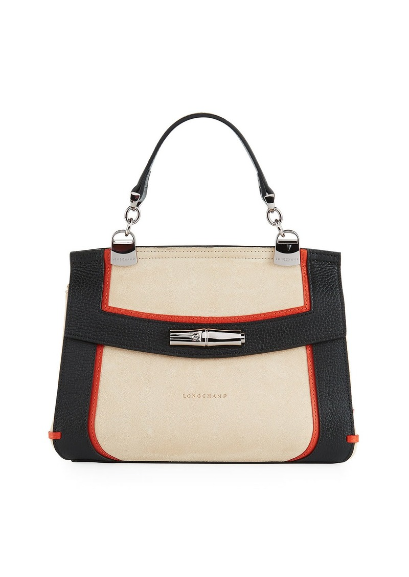 Longchamp Madeleine Tribu Leather Suede Crossbody Bag  afa1004842f2a