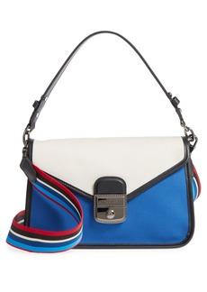 Longchamp Mademoiselle Gabardine Canvas Shoulder Bag