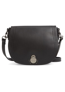 Longchamp Medium Alezane Leather Saddle Bag