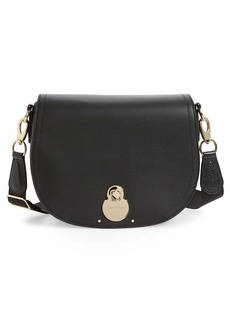Longchamp Medium Cavalcade Leather Crossbody Bag