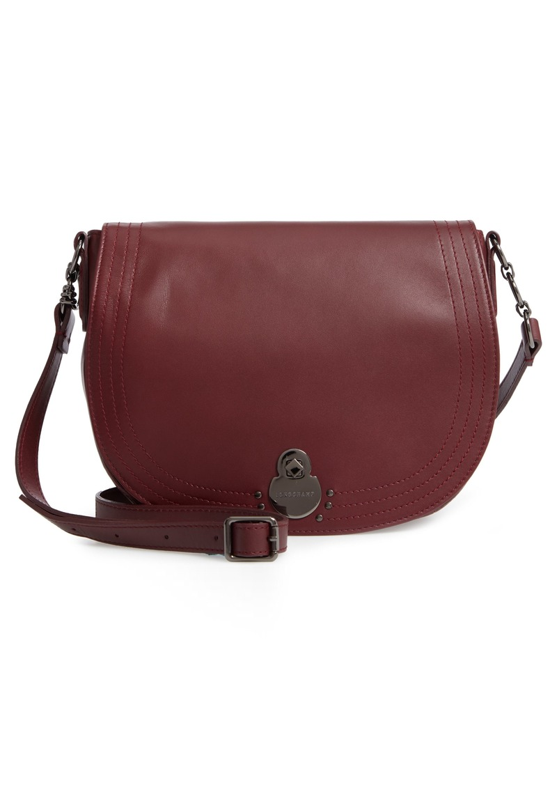 Longchamp Longchamp Medium Cavalcade Leather Saddle Bag  c506e18d1c294