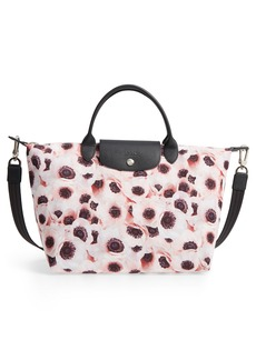 Longchamp Medium Le Pliage Anemone Print Tote