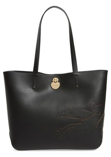 Longchamp Medium Shop-It Leather Tote