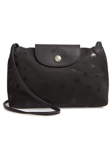 Longchamp Mini Le Pliage Étoiles Jacquard Canvas Crossbody Bag