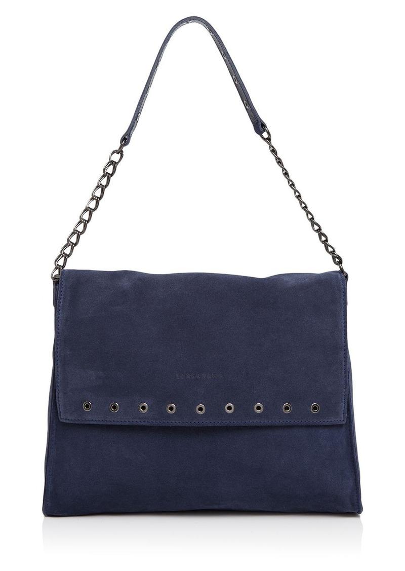 Longchamp Paris Rocks Suede Shoulder Bag
