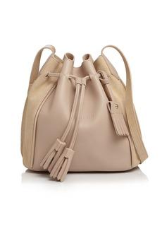 Longchamp Penelope Leather Bucket Bag