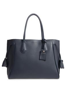 Longchamp 'Penelope' Tassel Drawstring Leather Tote