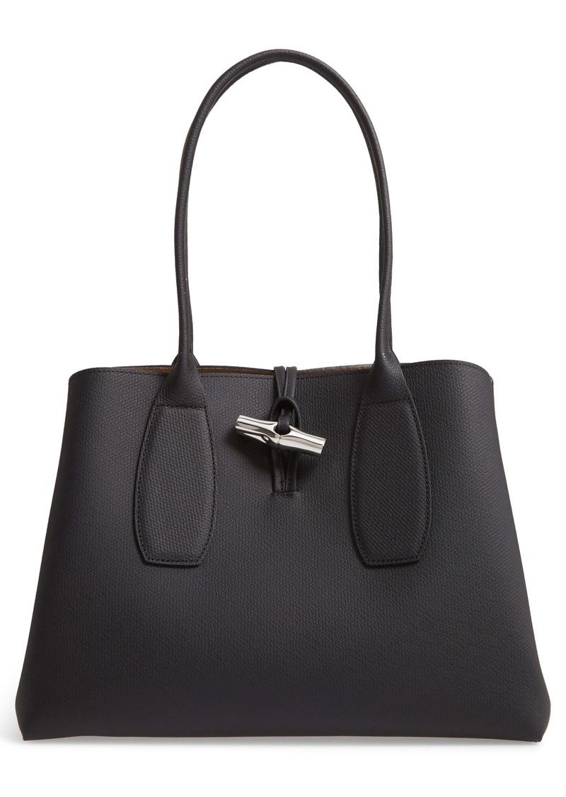 Longchamp Roseau Leather Shoulder Tote