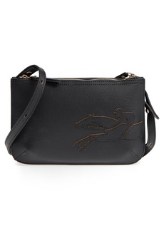 Longchamp Shop-It Leather Crossbody Bag