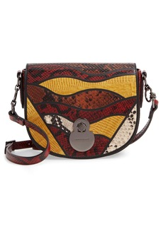 Longchamp Small Cavalcade Snakeskin Embossed Leather Crossbody Bag