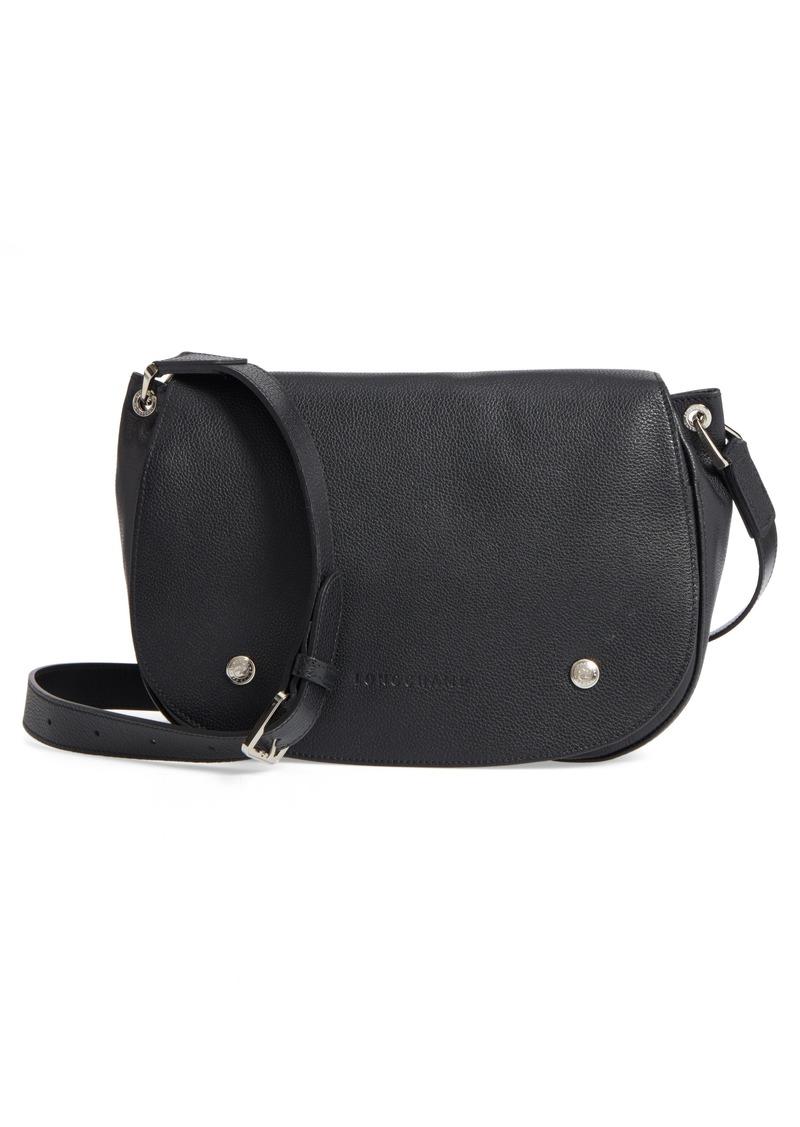 619a4edb5b Longchamp Longchamp Small Le Foulonne Leather Saddle Bag   Handbags