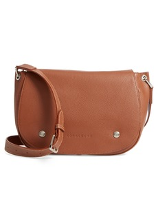 Longchamp Small Le Foulonne Leather Saddle Bag