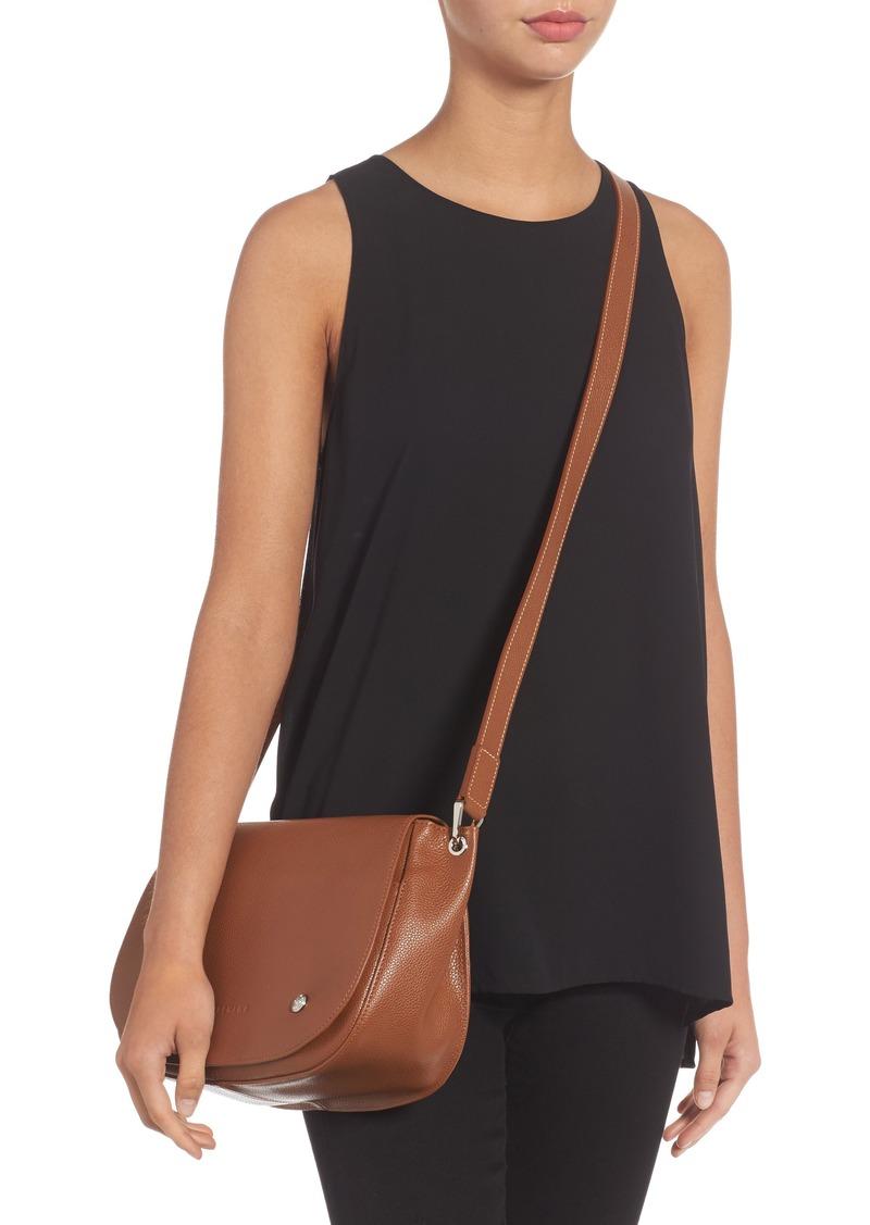 Longchamp Longchamp Small Le Foulonne Leather Saddle Bag   Handbags