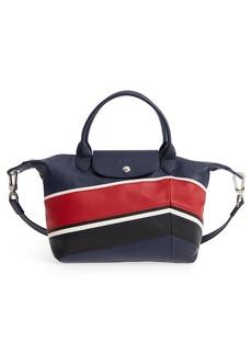 Longchamp Small Le Pliage Cuir - Chevron Leather Tote