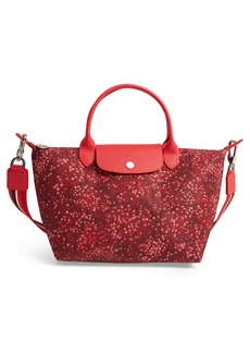 Longchamp Small Le Pliage Floral Print Shoulder Bag