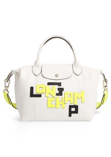Longchamp Small Le Pliage Logo Leather Tote