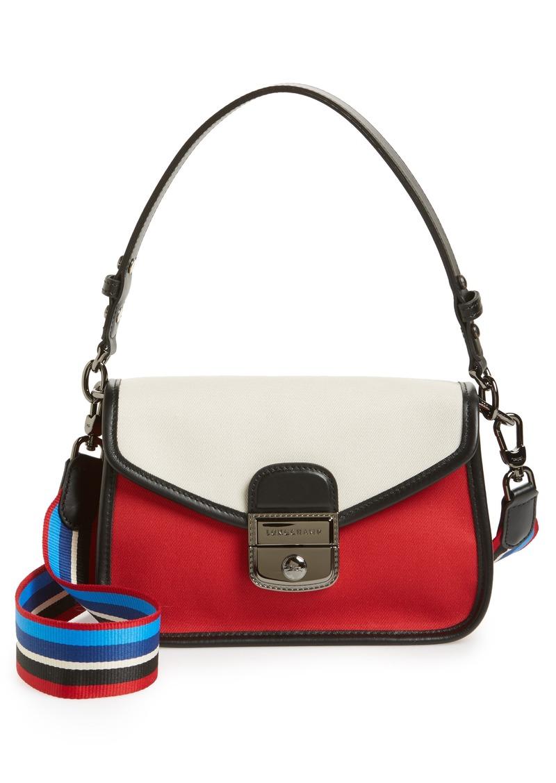 Longchamp Longchamp Small Mademoiselle Gabardine Canvas Shoulder Bag ... a07ec9299d9ea