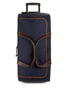Longchamp Two-Tone Canvas Wheeled Luggage