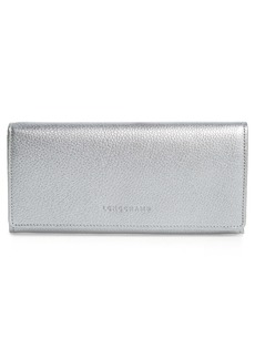 Longchamp Veau Foulonne Continental Wallet