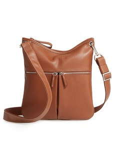 Longchamp 'Veau' Leather Crossbody Bag