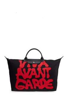 Longchamp x Jeremy Scott Viva Avant Garde Canvas Travel Bag