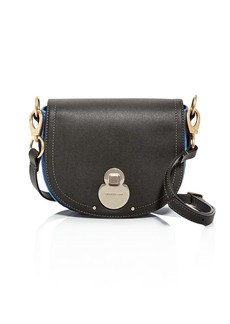 Longchamp Wild Small Color-Block Leather & Suede Crossbody