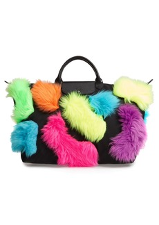 Longchamp x Jeremy Scott Faux Fur Travel Bag
