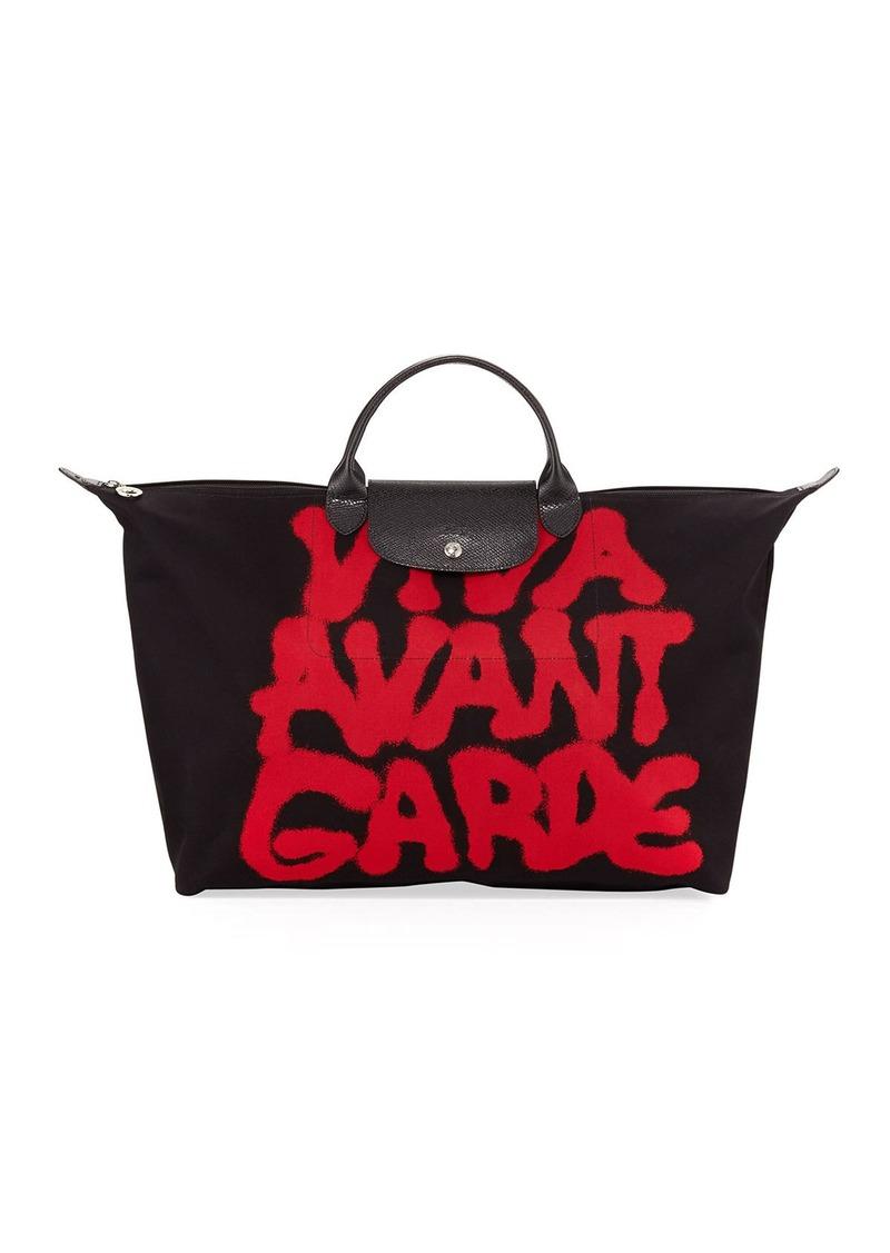 Longchamp X Jeremy Scott Viva Avant Garde Travel Bag